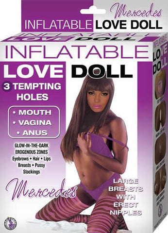 INFLATABLE LOVE DOLL MERCEDES-BROWN - Red Rose Toys