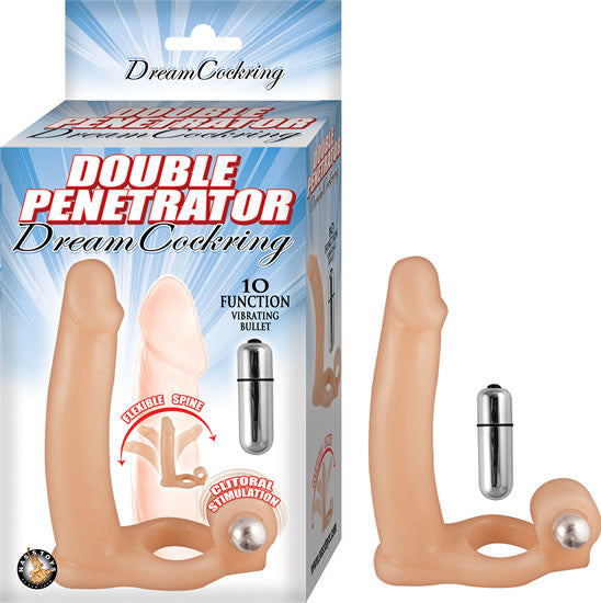 DOUBLE PENETRATOR DREAM COCKRING-FLESH