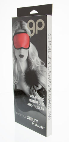 Guilty Pleasure - Two-Toned Blindfold and Tickler - Red - Red Rose Toys