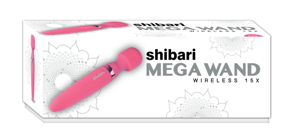 MEGA WAND 15 SPEED WIRELESS SILICONE POWER MASSAGER - Red Rose Toys