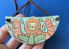 Ceramic Hand-built Gardener Necklace
