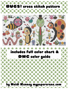 Bugs! cross stitch PDF (digital download)
