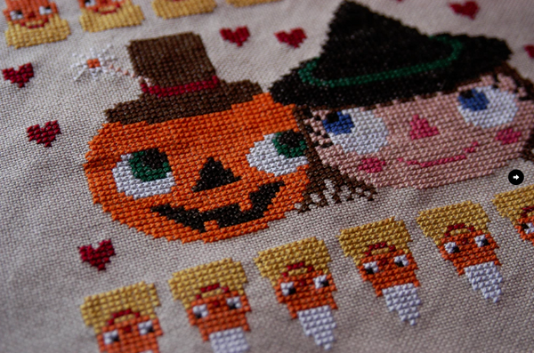 Halloween Love cross stitch pattern PDF (digital download)