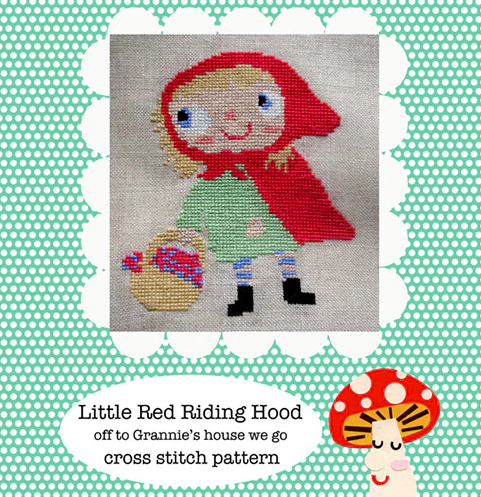Little Red Riding Hood cross stitch pattern PDF (digital download)