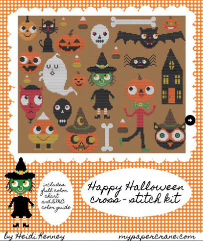 Halloween Frenzy cross stitch pattern PDF (digital download)