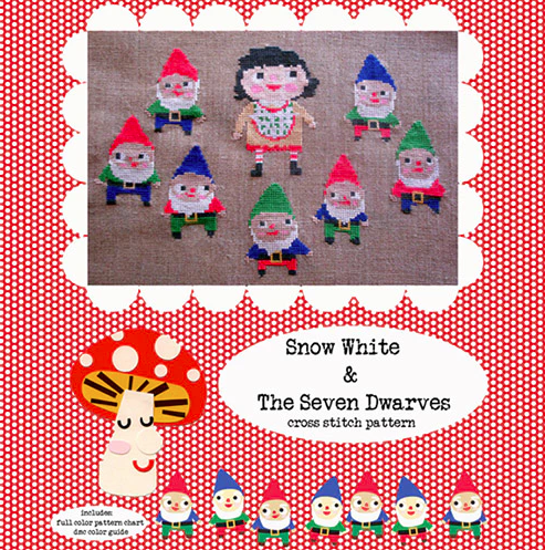 Snow White & The Seven Dwarfs cross stitch pattern PDF (digital download)