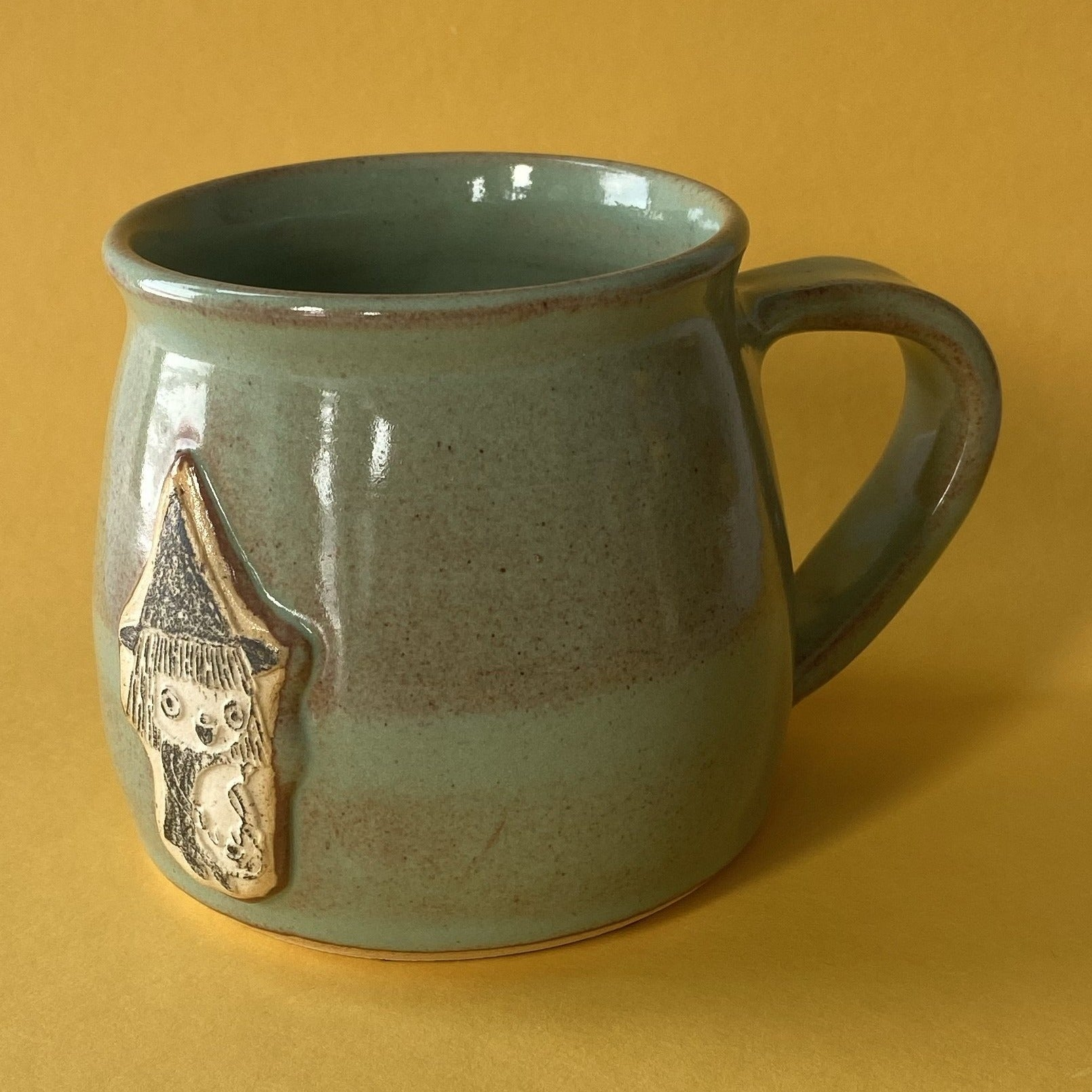 Ceramic Wheel Thrown Witch Mug 18oz