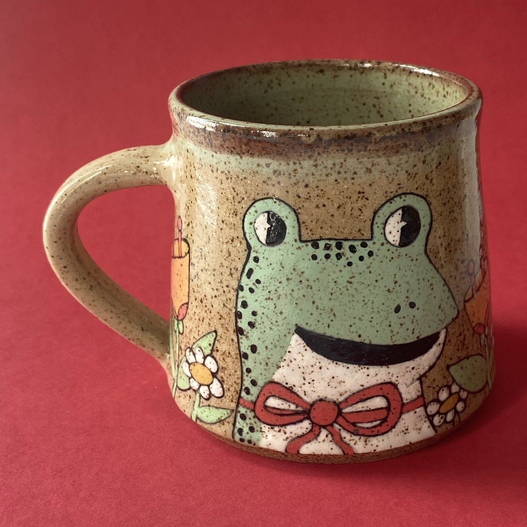 Ceramic Wheel Thrown Frog Mug 18oz