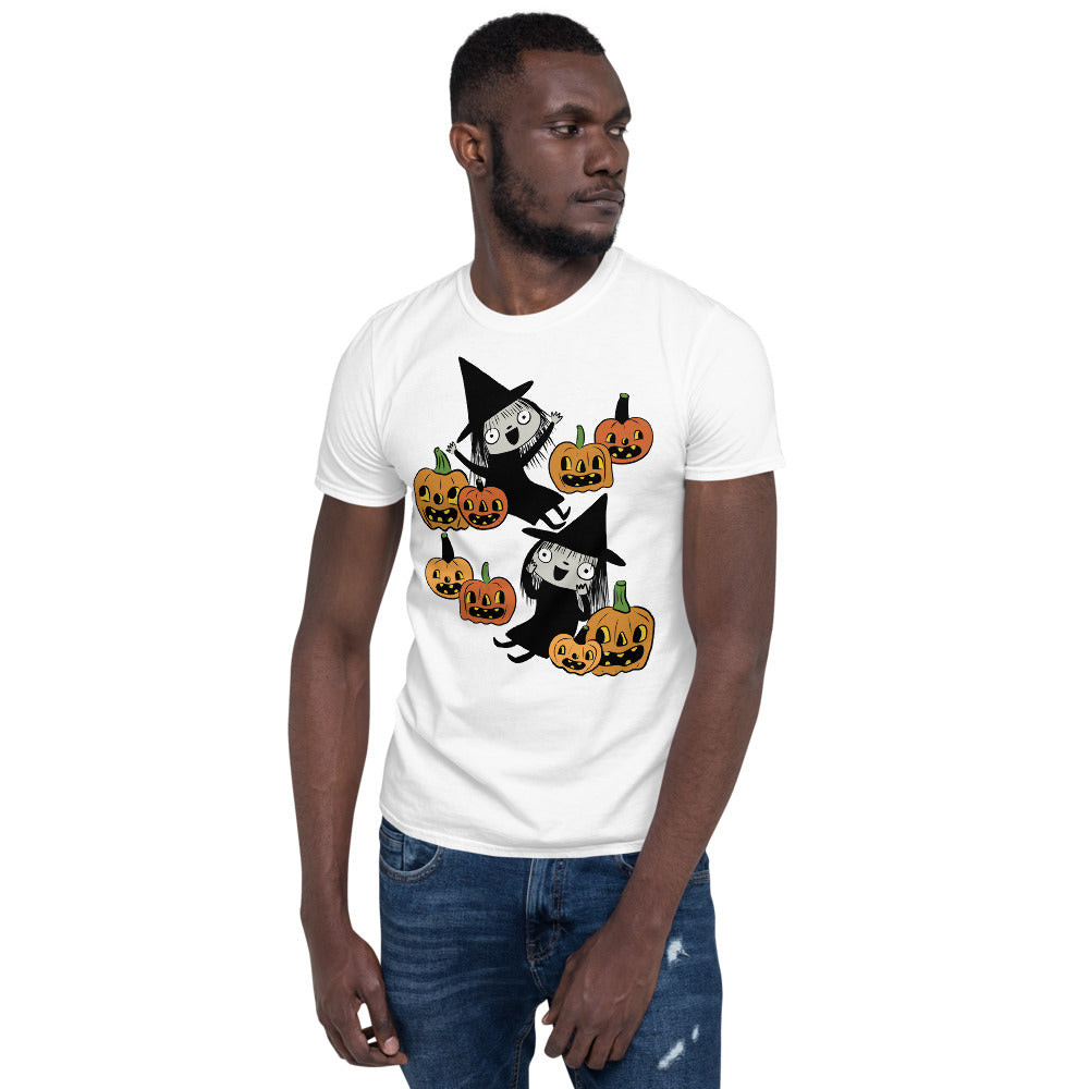 Pumpkin Patch Witch Short-Sleeve Unisex T-Shirt