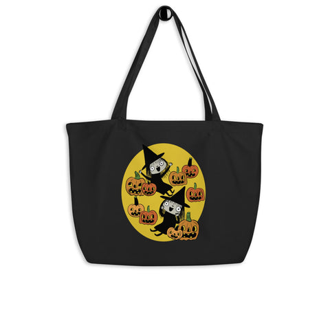 Large Twin Witches organic tote bag