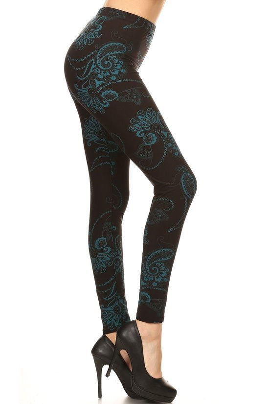 Midnight Paisley Curvy Plus