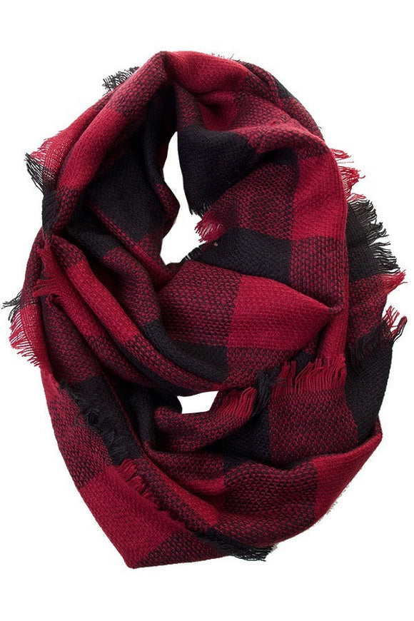 Infinity Scarf Red Plaid