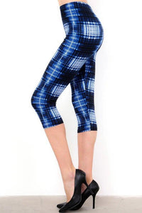 Patchwork Plaid Capri