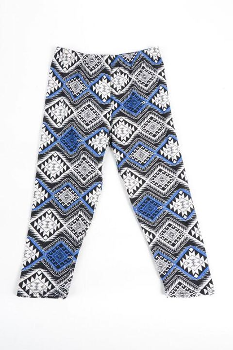 Royal Blue Tribal Capri Kids Junior