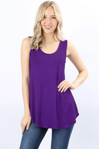 Dolphin Hem Tank Plus Purple