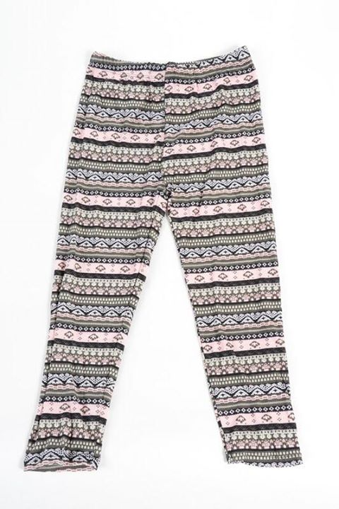 Pink Fair Isle Capri Kids Junior