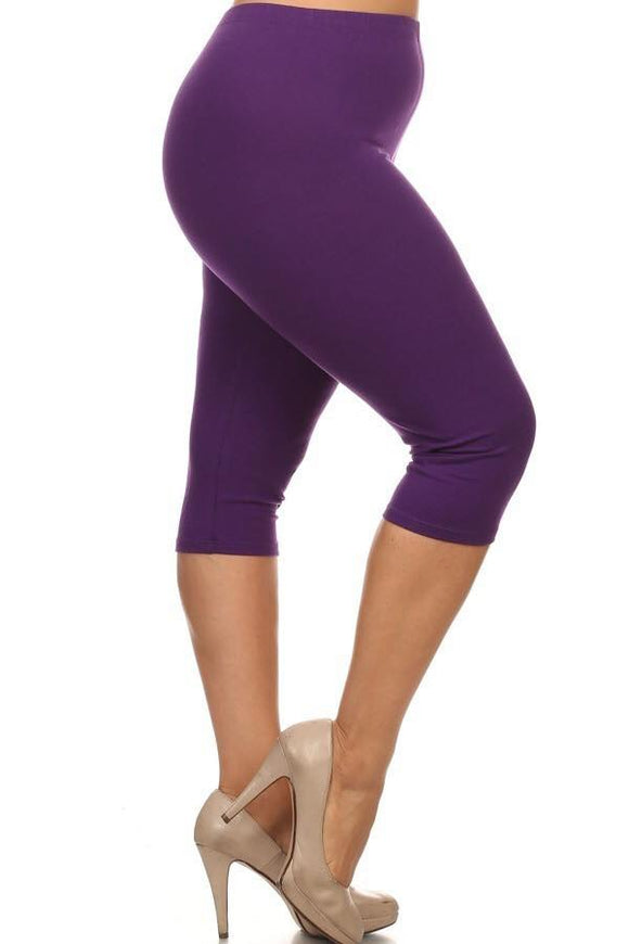 Purple Capri Curvy
