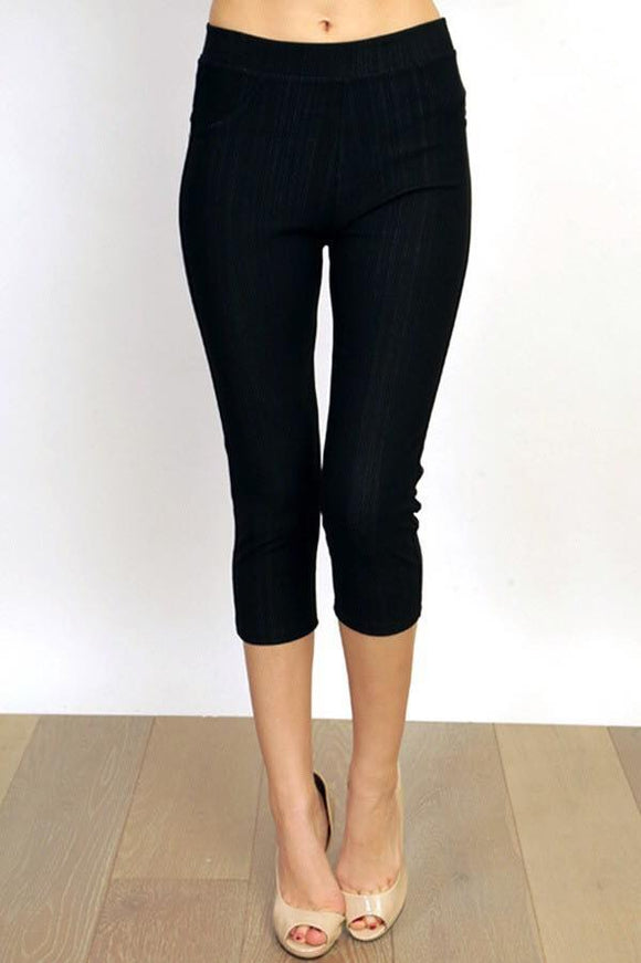 Black Jegging Capri Plus