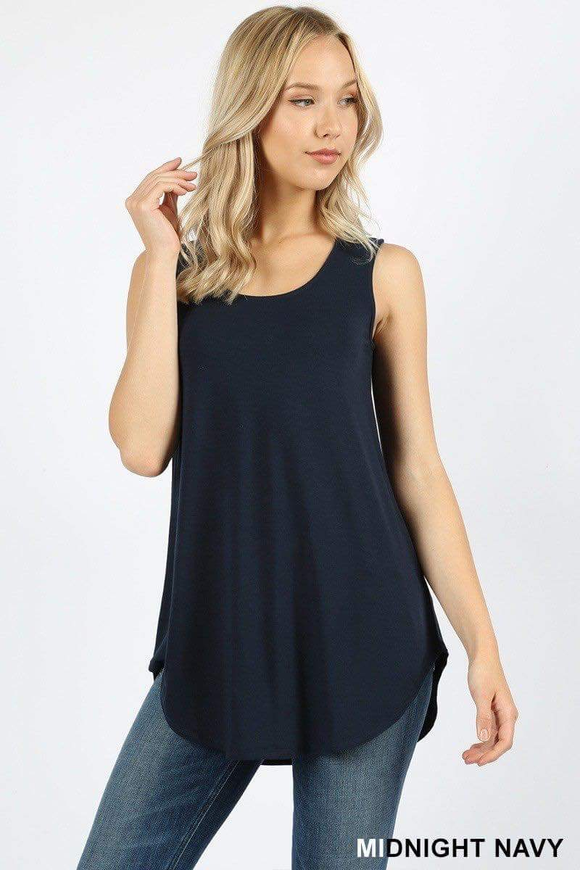 Dolphin Hem Tank Midnight Navy
