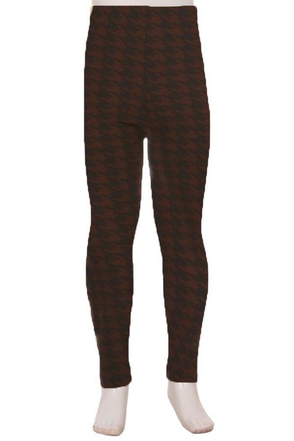 Brown Houndstooth Kids S/M