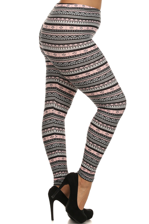 Pink Fair Isle Curvy Plus