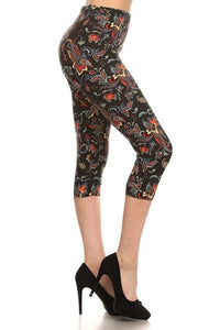 Color Pop Paisley Capri