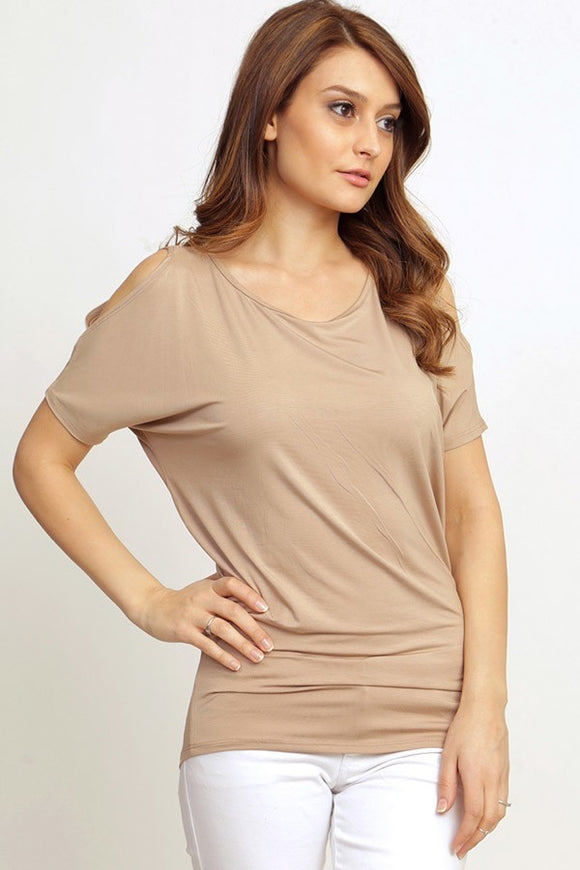 Cold Shoulder Dolman Cocoa