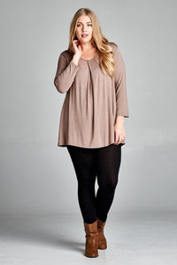 Cinched Neckline Tunic Plus Coco