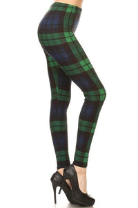 Navy & Green Plaid Plus