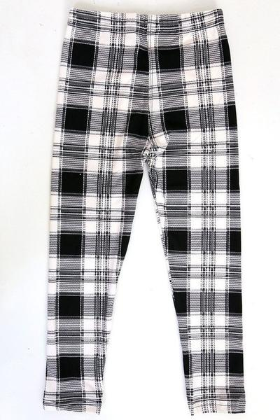 Black & White Plaid Kids L/XL