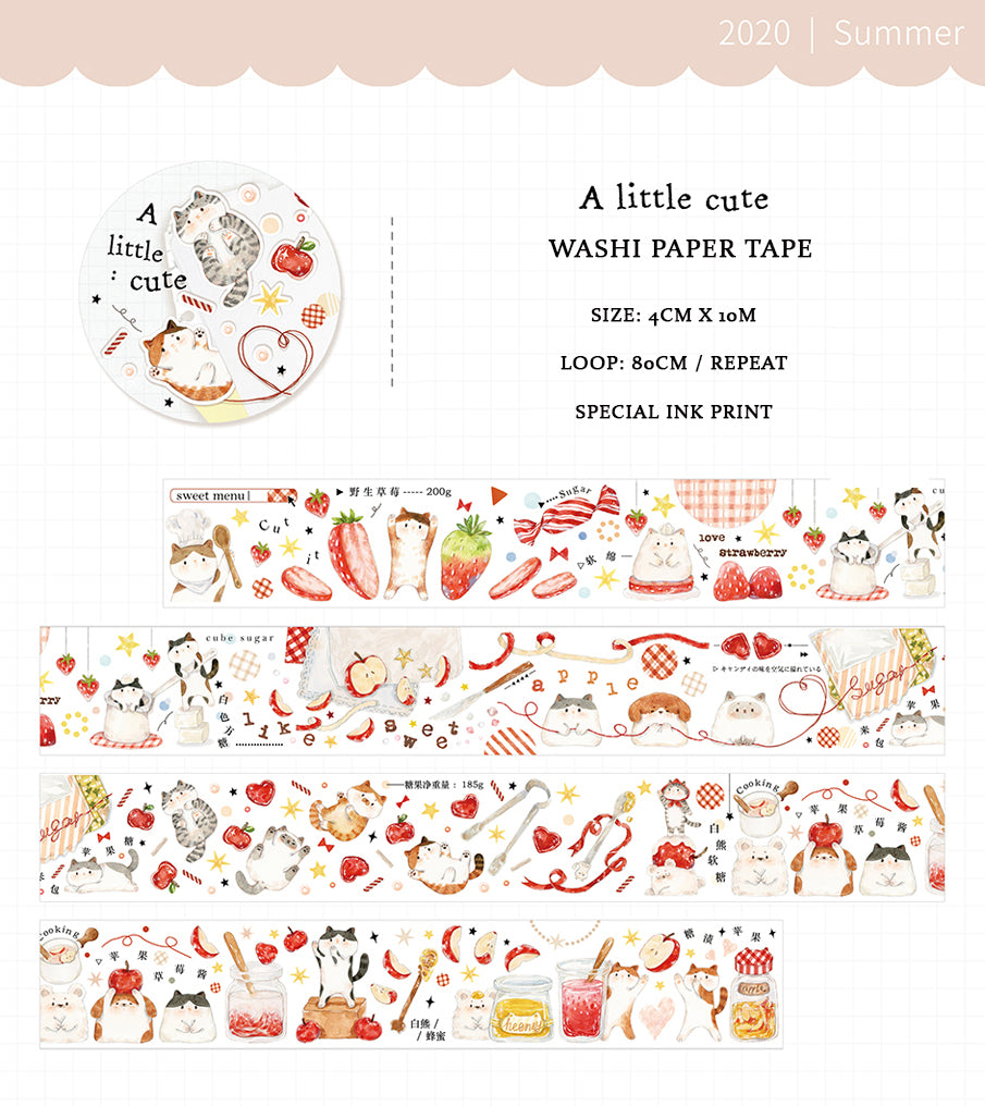 A Little Cute Cats Washi Tape