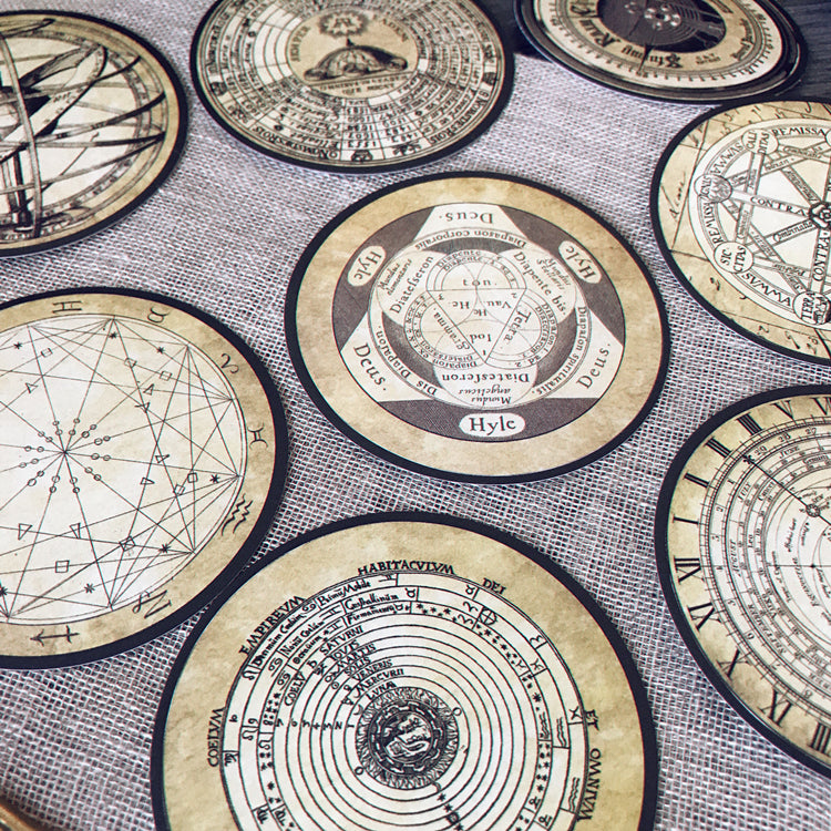 Astronomical Clock Stickers Pack