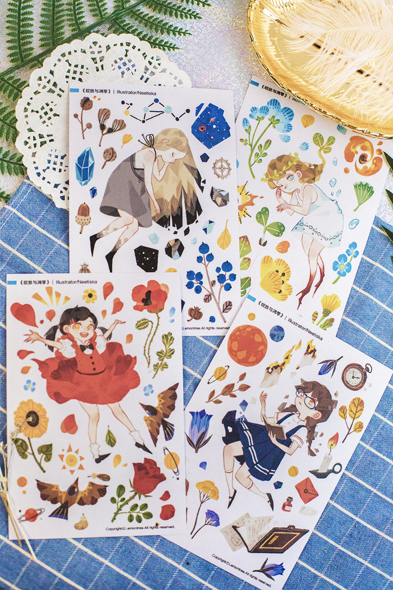 Bloom And Wilt Stickers Sheet