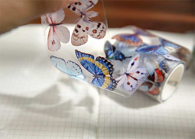 Crystal Butterflies Clear Tape