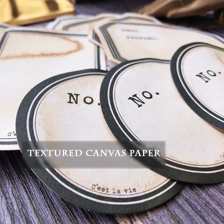 Coffee Stained Paper Labels