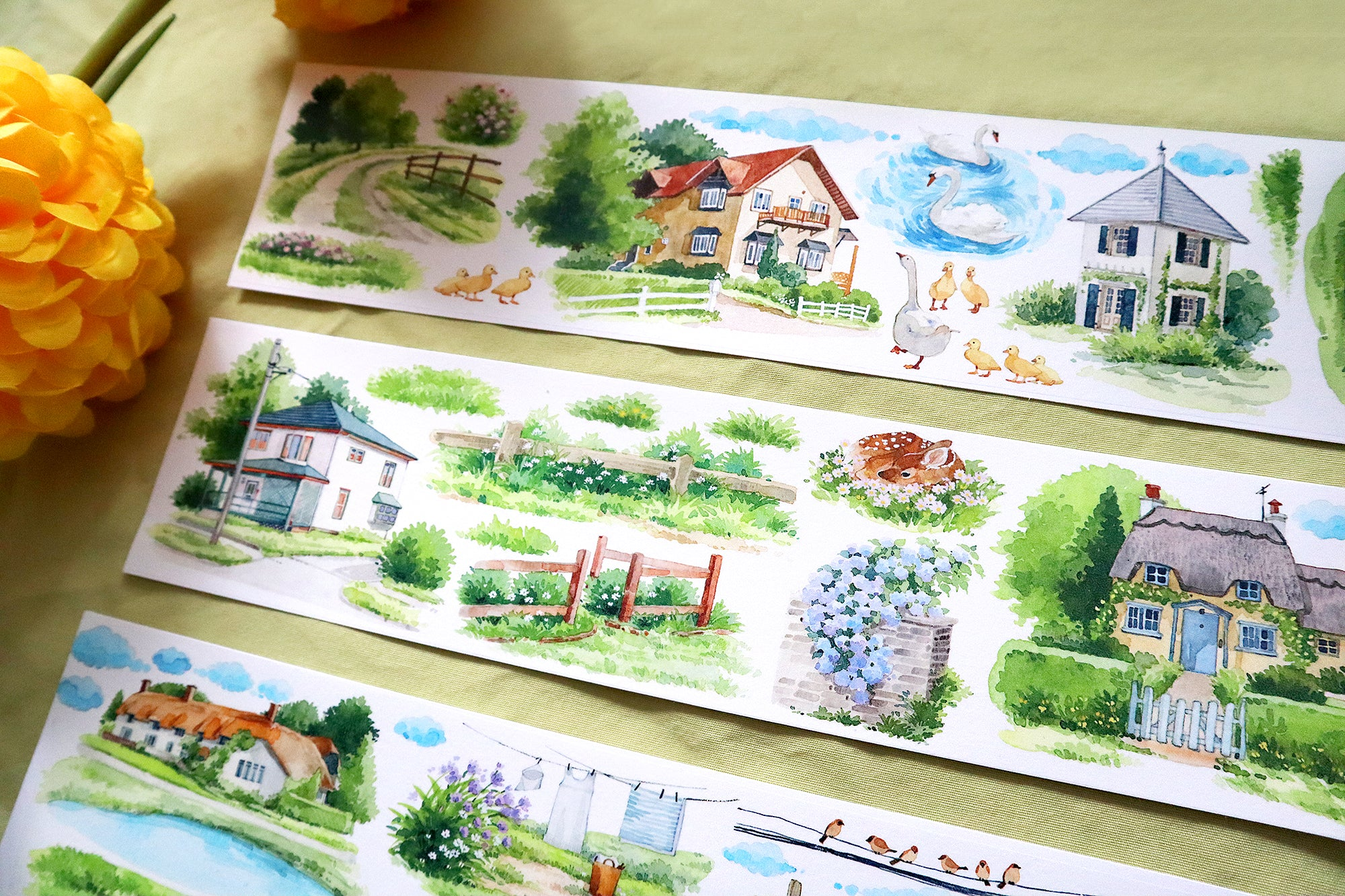 Spring Countryside Washi Tape