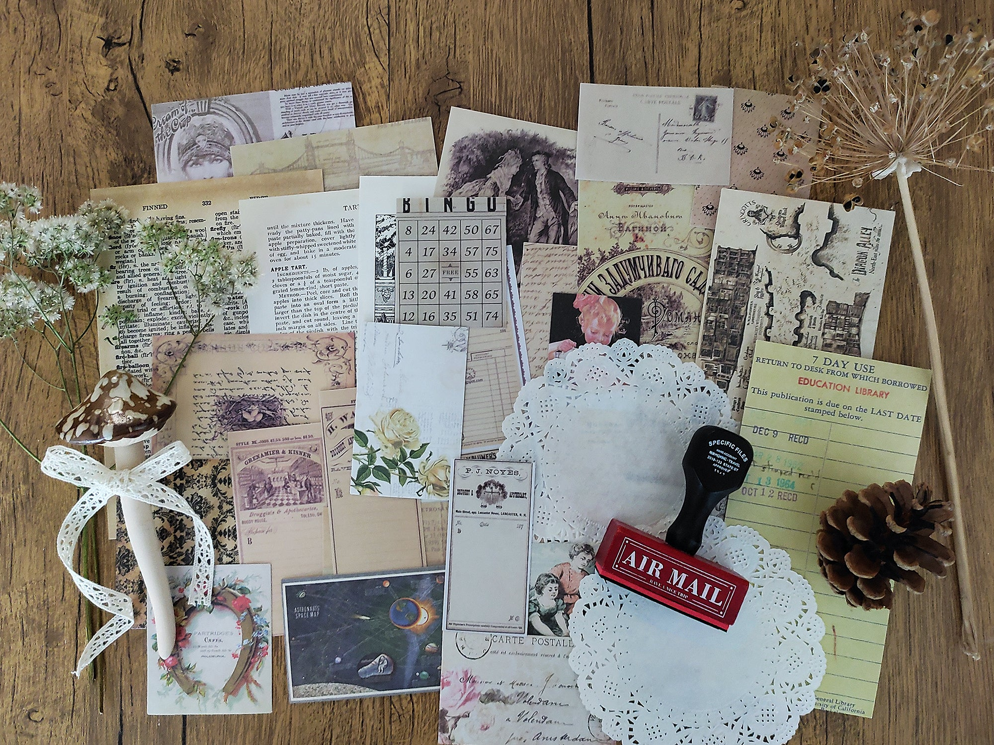 Junk Journal Ephemera Kit - Collection 8