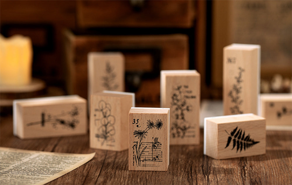 Flowers and Plants Wooden Stamps