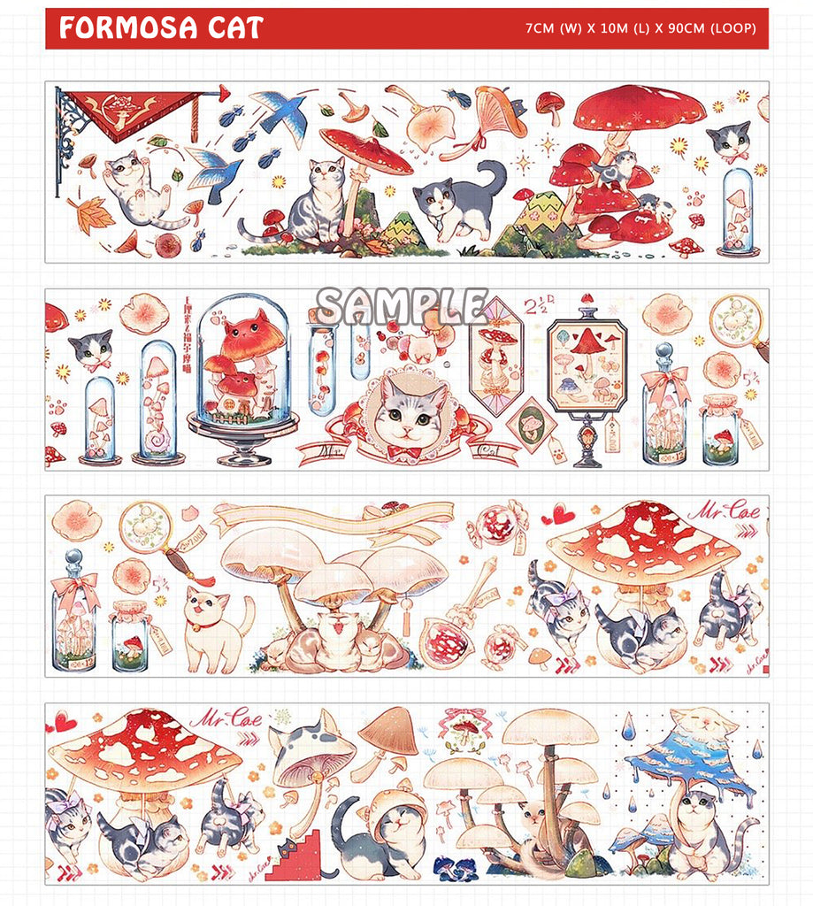 Formosa Cat Washi Tape