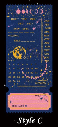 Journey Through the Milky Way Gold Foil Tickets