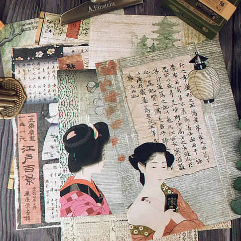 Edo Japan Paintings Paper Stickers
