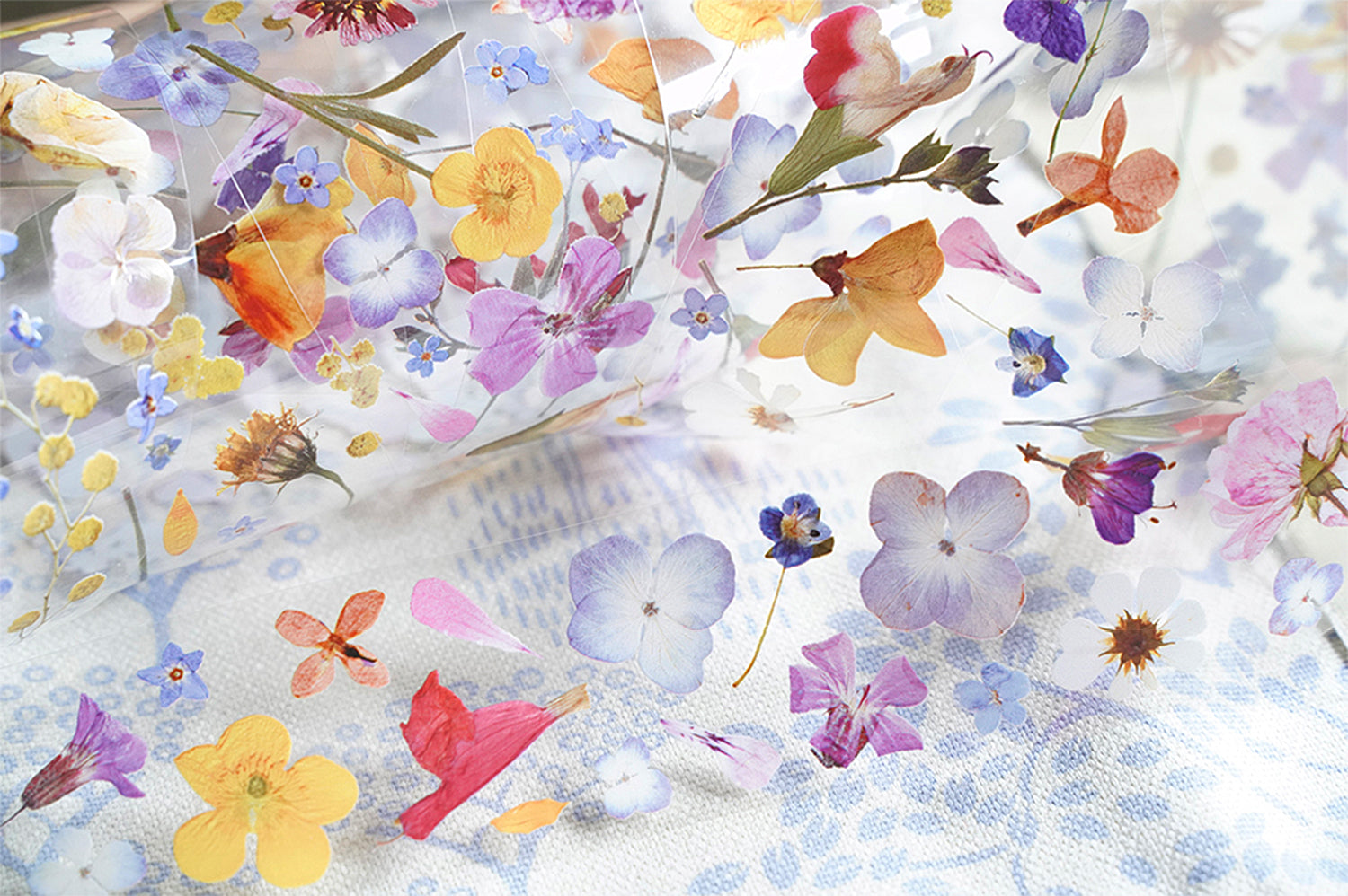 Wild Flowers Clear Tape