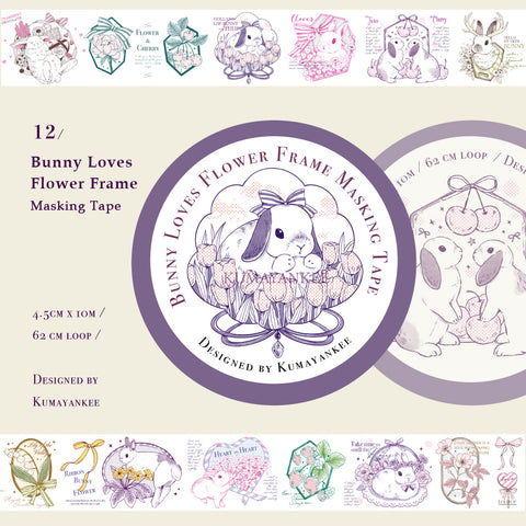 Kumayankee Washi Tape: Bunny Loves Flower