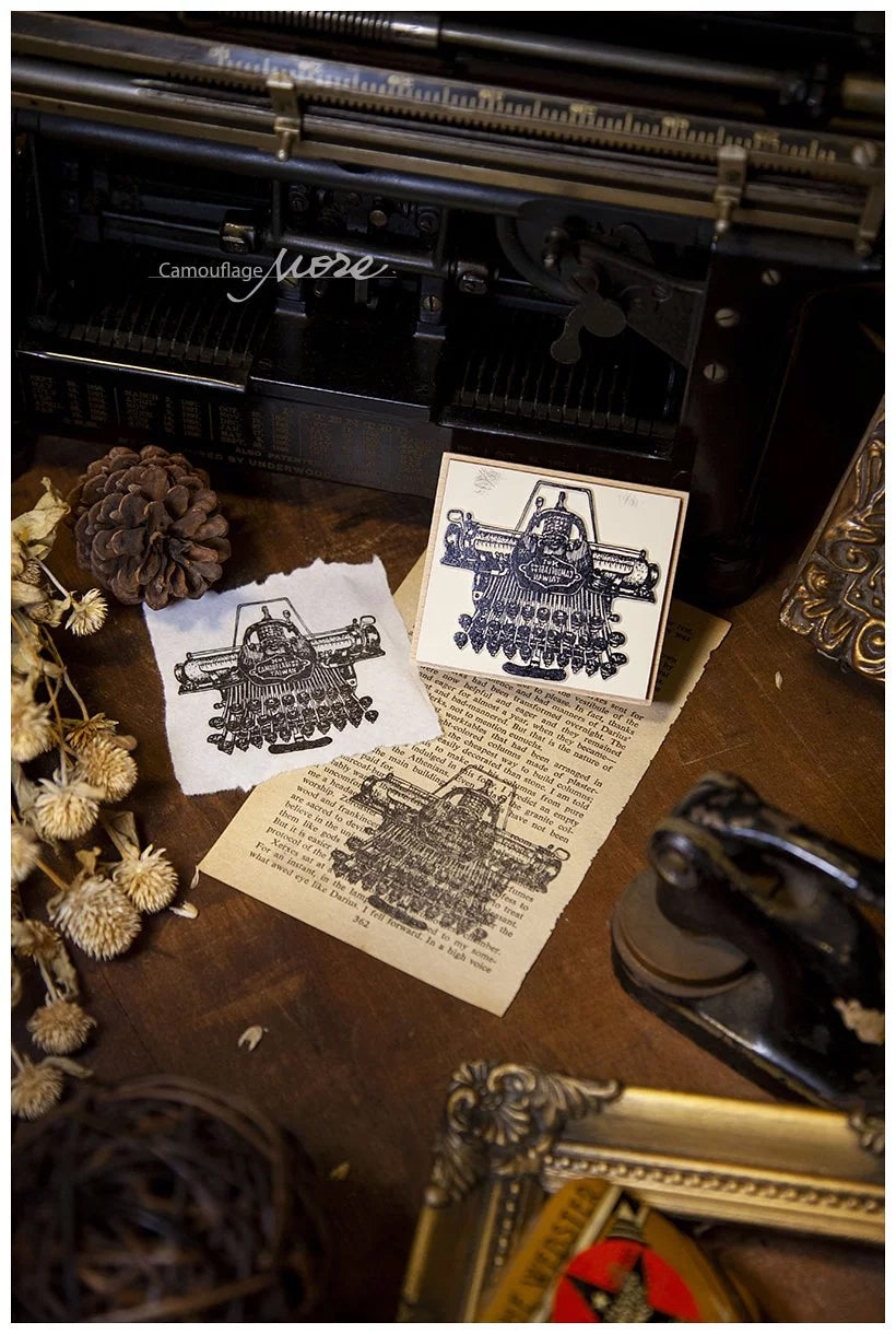 Typewriter Wooden Stamp: Style C