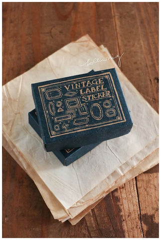 Vintage Label Stickers (Blue Box)