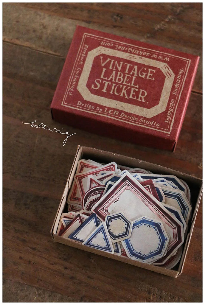 Vintage Label Stickers (Red Box)