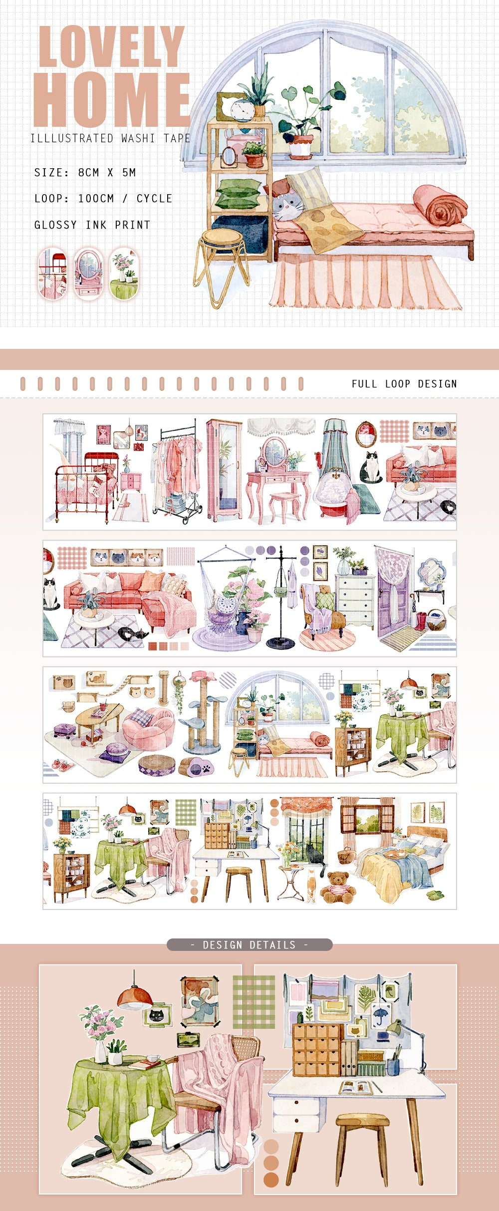 Lovely Home Washi Tape