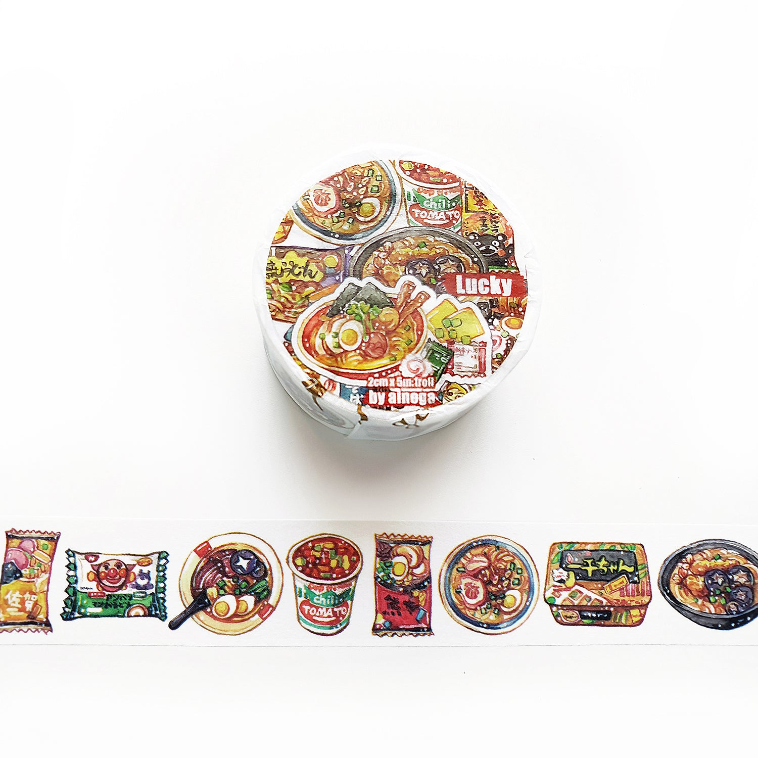 Lucky Washi Tape: Instant Noodles
