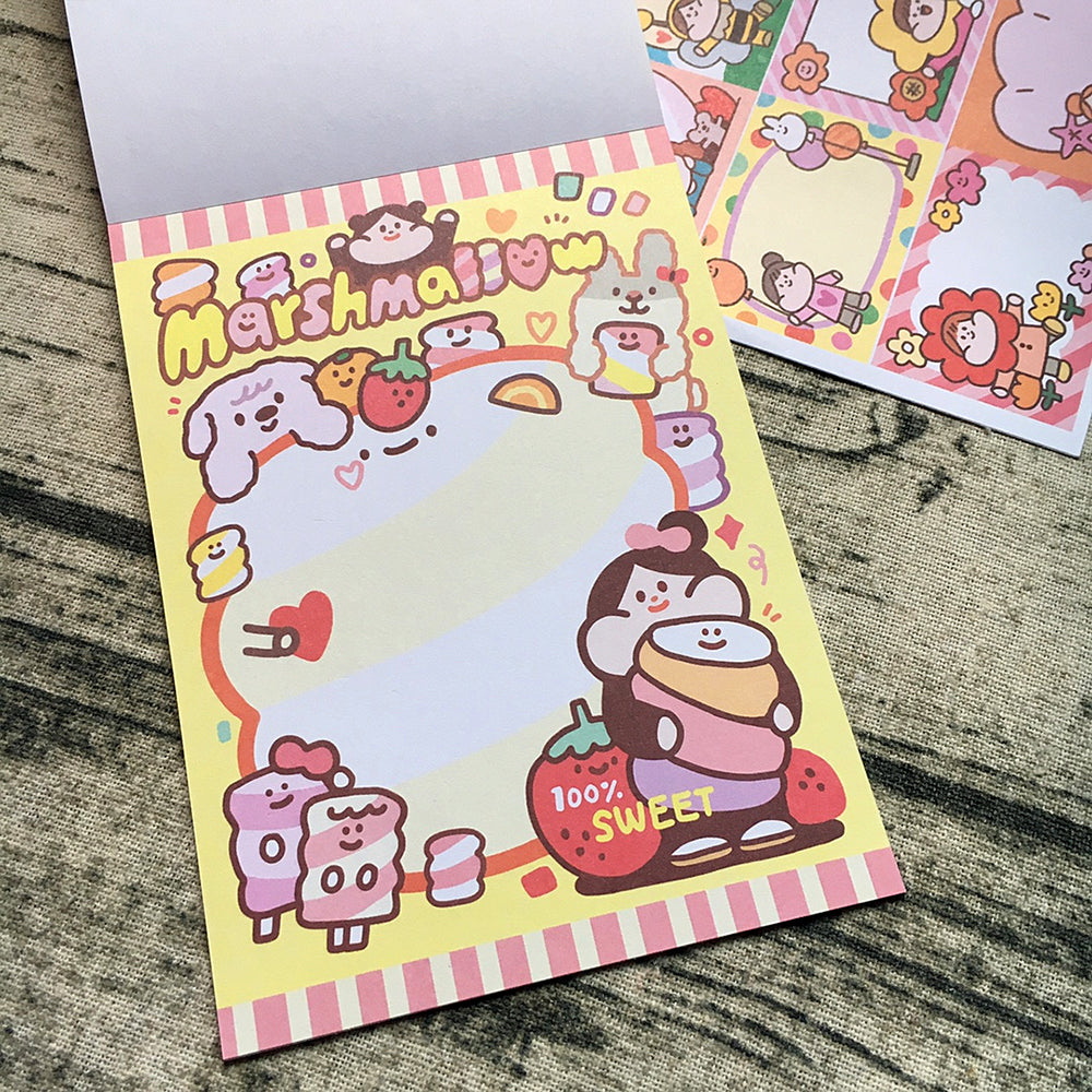 Meatball Candy Bag Memo Pad