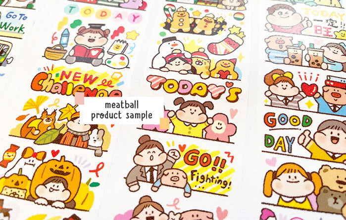 Meatball Washi Tape: Daily Motivation